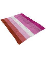 Lesbian Pride Flag Fluffy Microfleece Throw Blanket