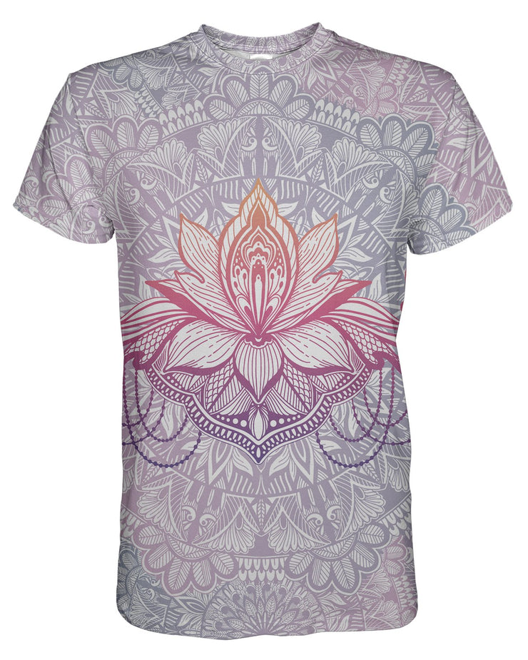 Lotus Flower Mandala printed all over in HD on premium fabric. Handmade in California.