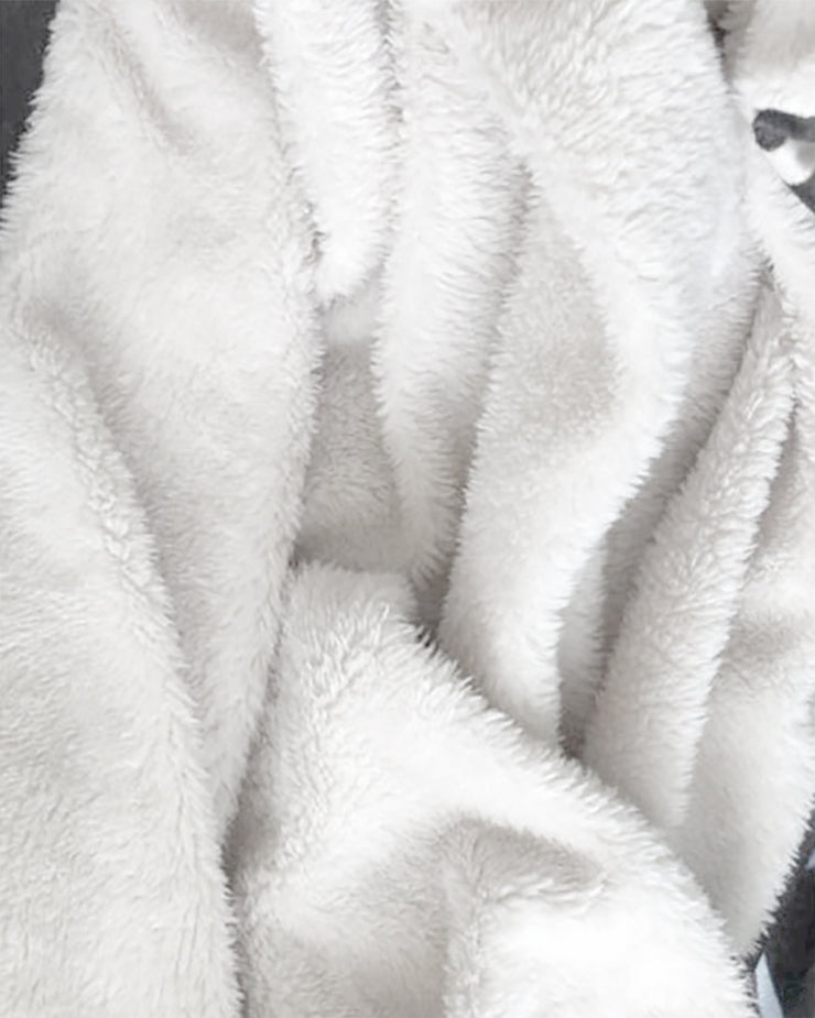 Chads Plates Fluffy Micro Fleece Throw Blanket