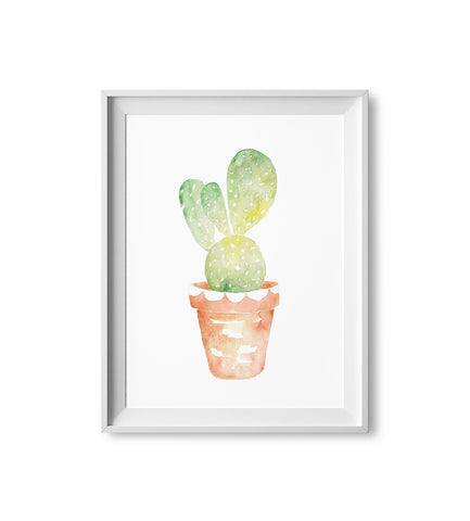 Scalloped Cactus Watercolor Print