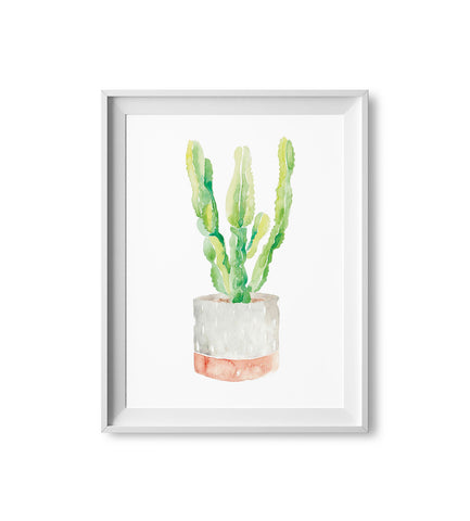 Two-Toned Cactus Watercolor Print