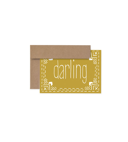 Greeting Card - Darling