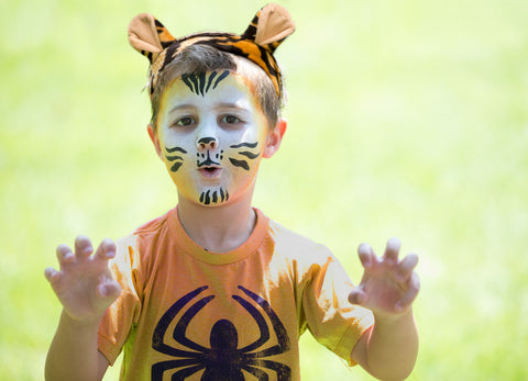 tiger face paint and ears