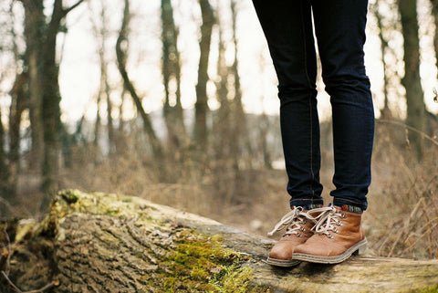 hiking in boots