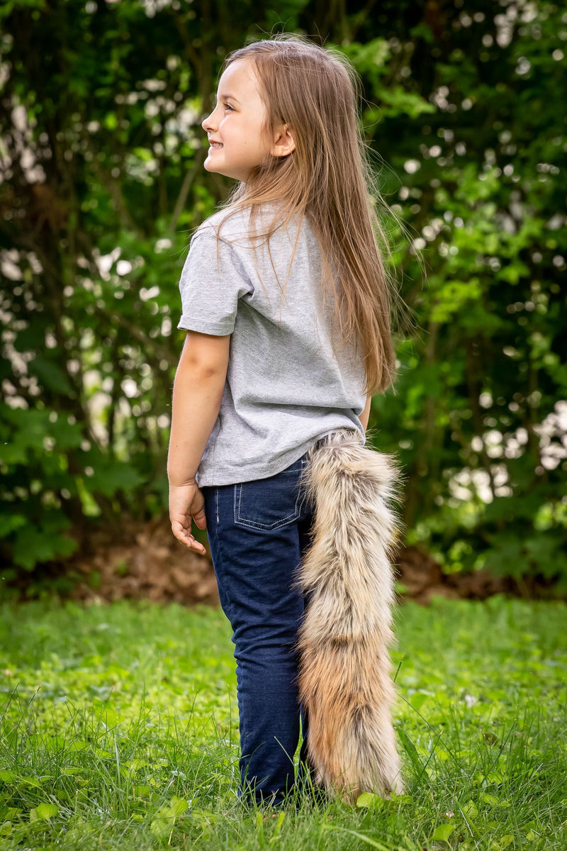 Fennec Fox Tail Clip-On for Fennec Fox Costume Cosplay Pretend Play