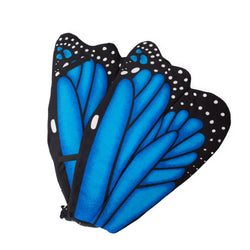 Plush Blue Morpho Butterfly Wings for Blue Butterfly Costume, Kids Cosplay and Pretend Play