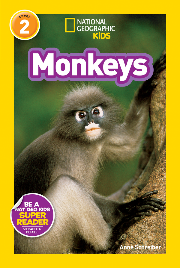National Geographic Kids Readers: Monkeys (Level 2) Animal Book