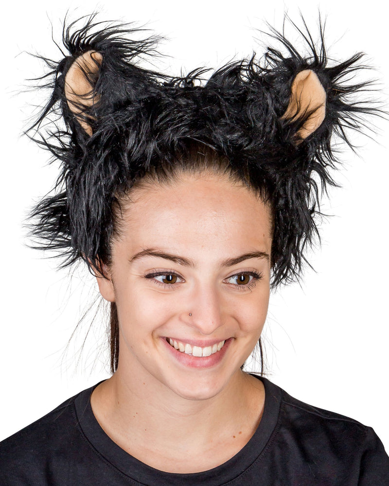 Black Bear Ears for Black Bear Costume Cosplay Animal Pretend Play