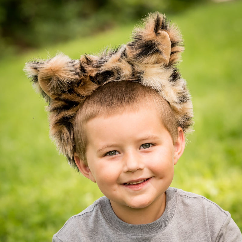 Snow Leopard Ears for Snow Leopard Costume Cosplay Animal Pretend Play