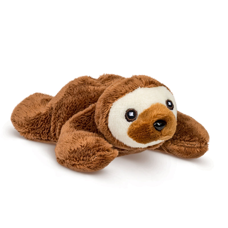 Single Sloth Mini 4 Inch Small Stuffed Animal, Zoo Animal Toy, Jungle Safari Party Favor for Kids
