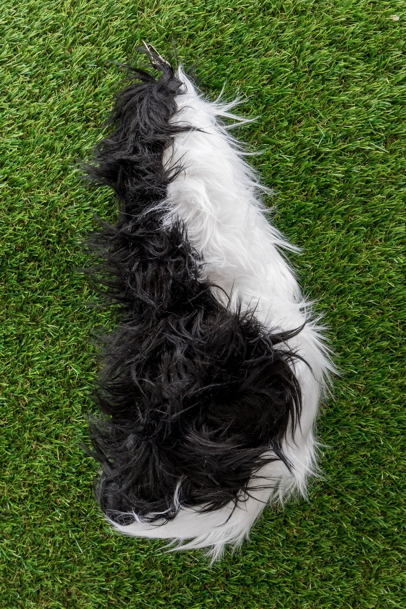 Skunk Tail Clip-On for Skunk Costume Cosplay Animal Pretend Play