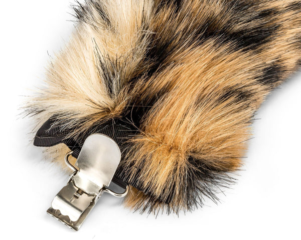 Clip for Snow Leopard Tail for Snow Leopard Costume, Cosplay or Safari Party Costumes