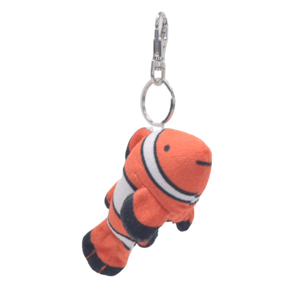 4 Inch Clown Fish Stuffed Animal Clips for Kids Backpack Toy