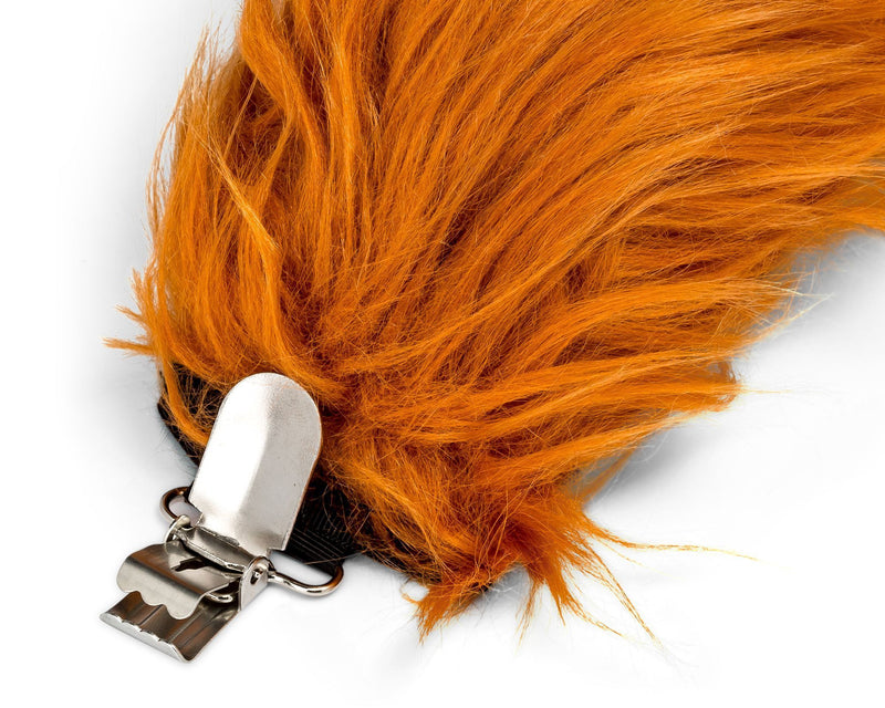 Clip for Red Fox Tail for Red Fox Costume, Pretend Play or Forest Animal Costumes