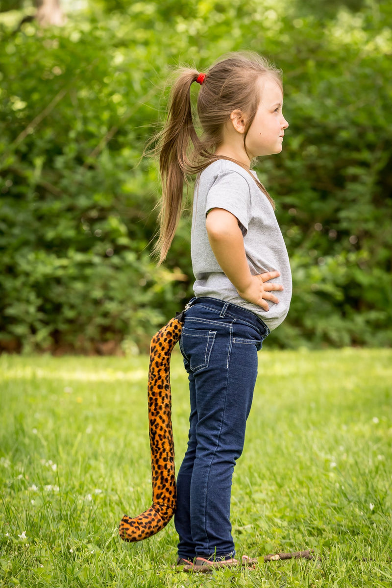 Cheetah Tail Clip-On for Cheetah Costume Cosplay Safari Pretend Play