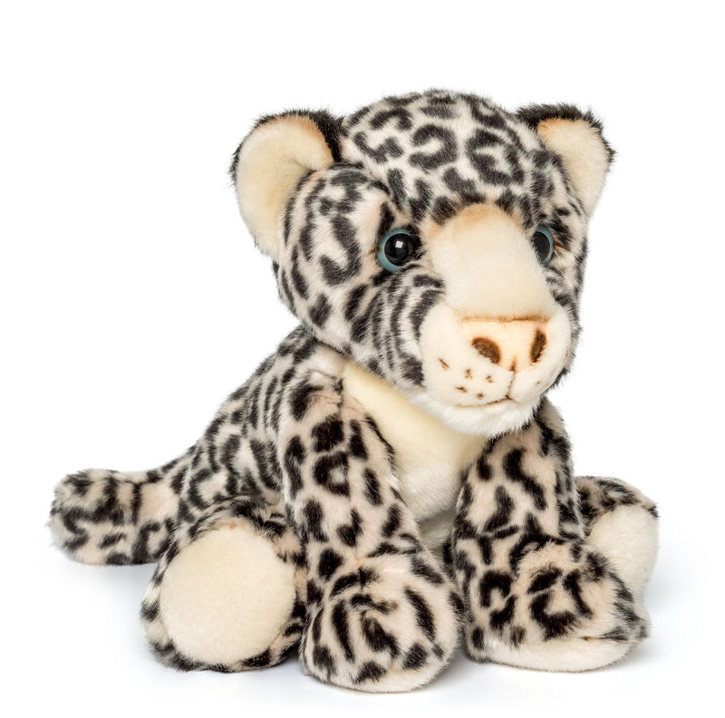 Wildlife Tree 12 Inch Stuffed Snow Leopard Plush Floppy Animal Kingdom Collection