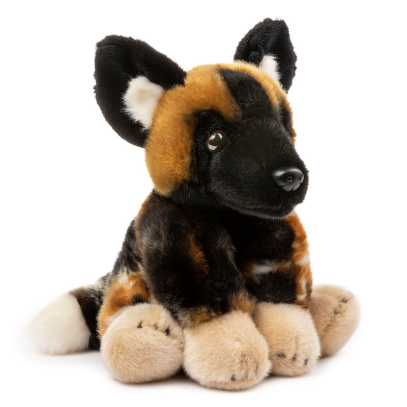 12 Inch Stuffed African Wild Dog Plush Floppy Animal Kingdom Collection