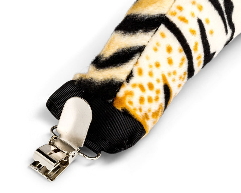 Clip for Plush Tiger Tail Clip-On Accessory for Tiger Costume, Pretend Play or Safari Party Costumes