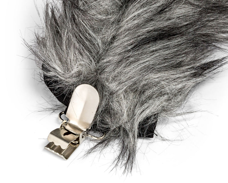 Clip for Plush Wolf Tail Clip-On Accessory for Wolf Costume, Pretend Animal Play or Forest Animal Costumes