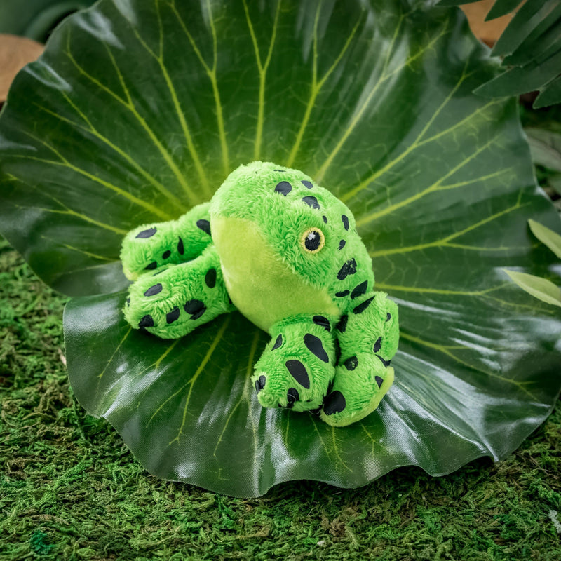 Green Dart Frog 4 Inch Stuffed Animal, Jungle Party Favor