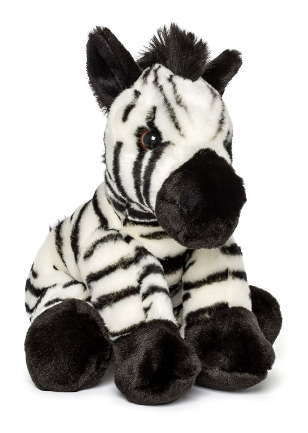 Wildlife Tree 12 Inch Stuffed Zebra Plush Floppy Animal Kingdom Collection