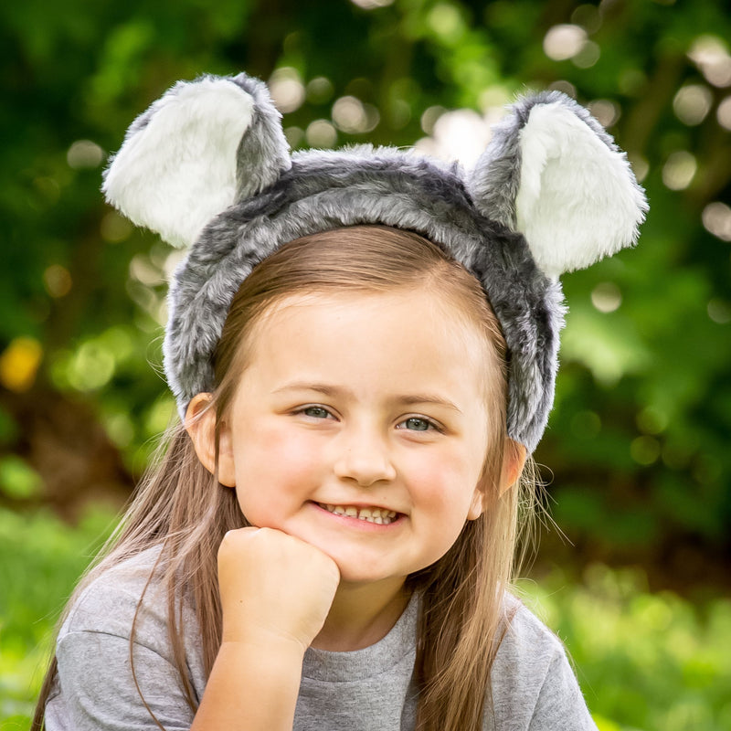 Koala Bear Ears Headband Accessory for Koala Costume, Pretend Animal Play or Safari Party Costumes