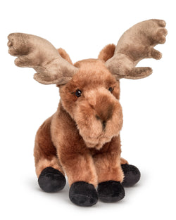 9 Inch Stuffed Moose Plush Floppy Animal Kingdom Collection