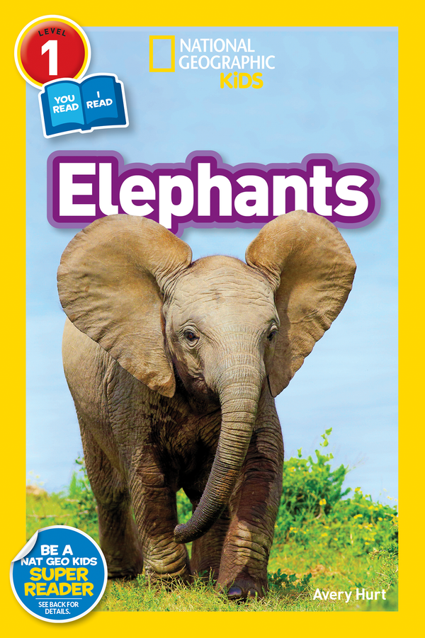 National Geographic Kids Readers: Elephants (Level 1 Co-Reader) Animal Book