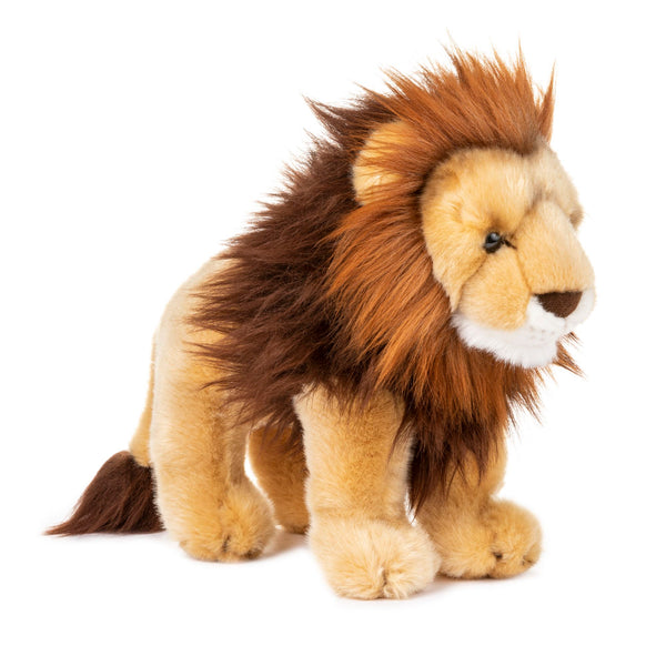 Standing 12 Inch Stuffed Lion Plush Floppy Animal Kingdom Collection