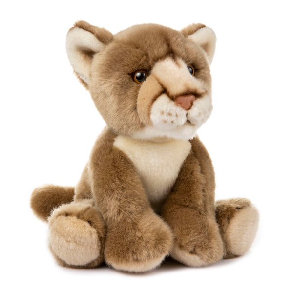 12 Inch Stuffed Mountain Lion or Cougar Plush Floppy Animal Kingdom Collection