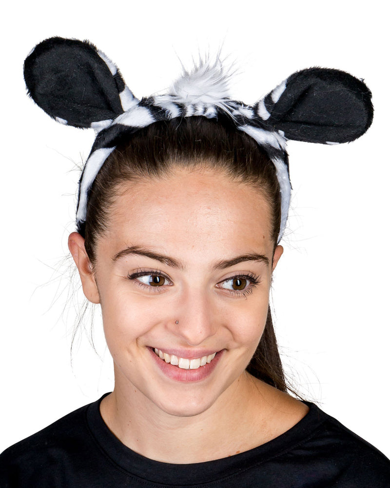 Zebra Ears for Zebra Costume Cosplay Jungle Safari Animal Pretend Play
