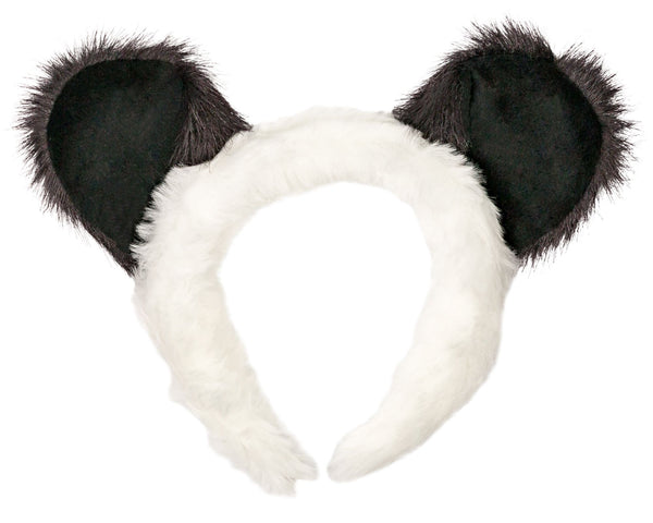Panda Bear Ears for Panda Costume Cosplay Jungle Animal Pretend Play