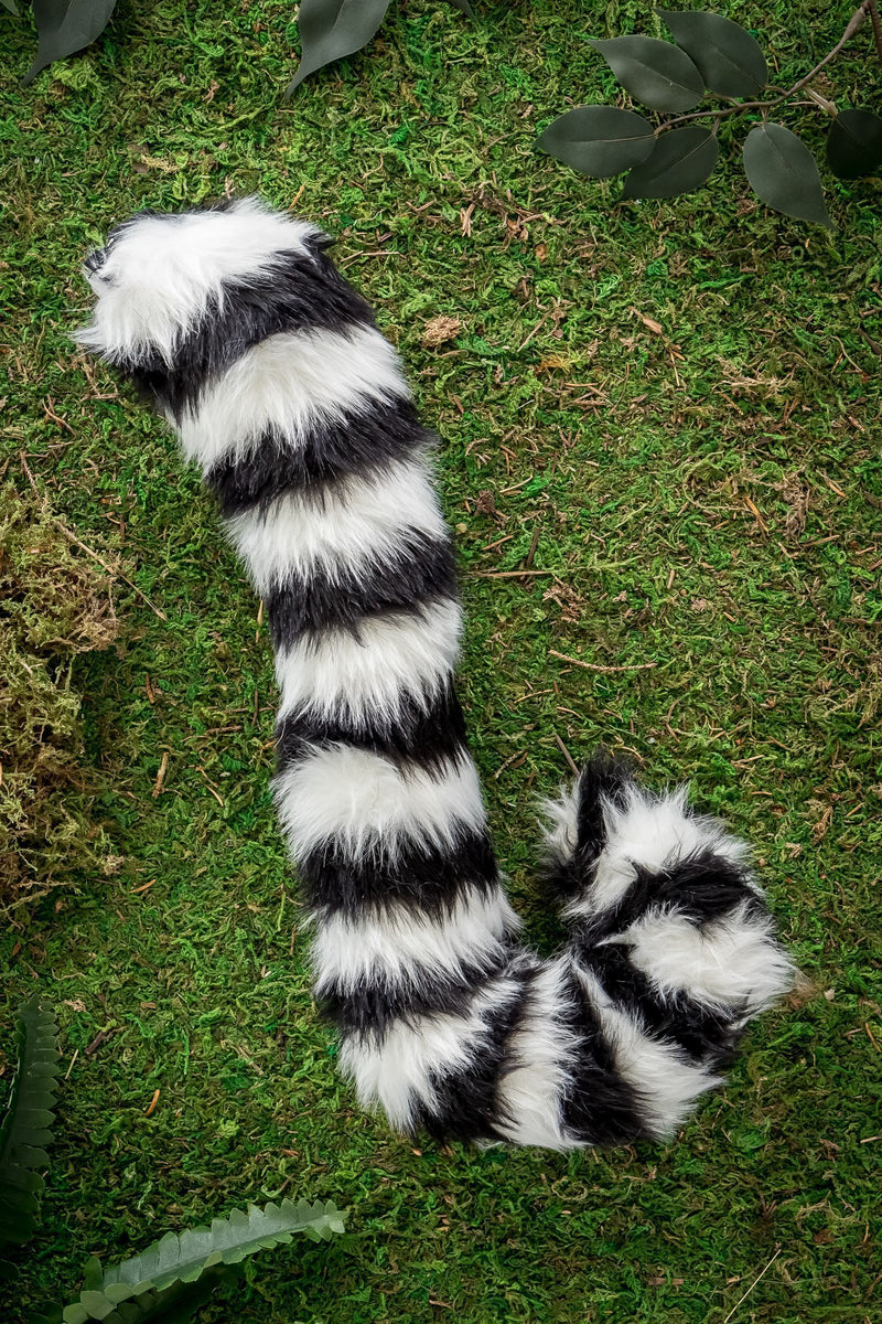 Ring-Tailed Lemur Tail Clip-On for Ring-Tail Lemur Costume Cosplay
