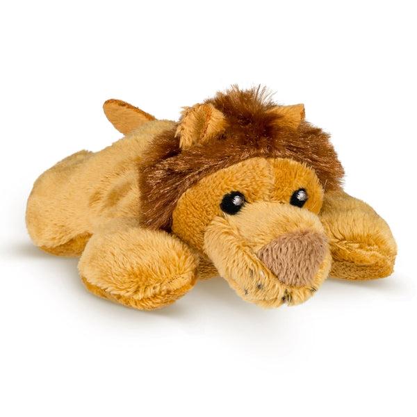 Single African Lion Mini 4 Inch Small Stuffed Zoo Animal Toy, Jungle Safari Party Favor for Kids