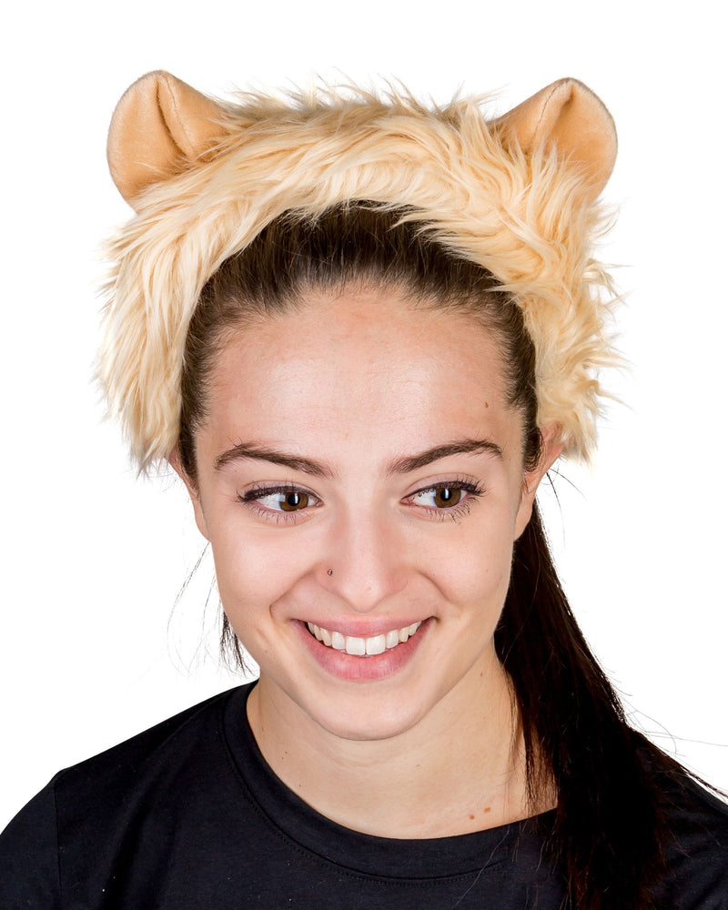Lion Ears for Lion Costume Cosplay Jungle Safari Animal Pretend Play