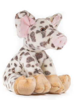 12 Inch Spotted Pig Stuffed Animal Floppy Hog Plush