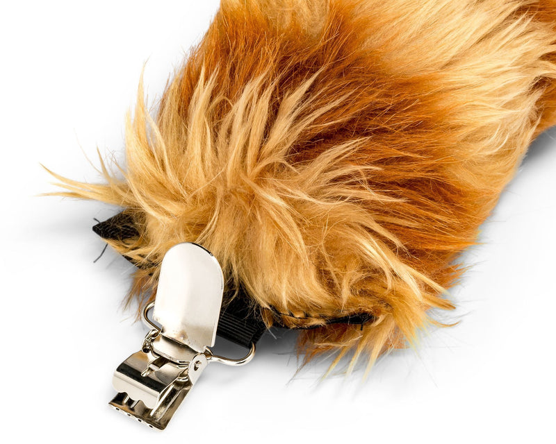 Red Panda Tail Clip-On for Red Panda Costume Cosplay Pretend Play