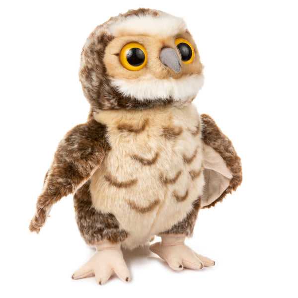 12 Inch Stuffed Burrowing Owl Plush Animal Kingdom Collection