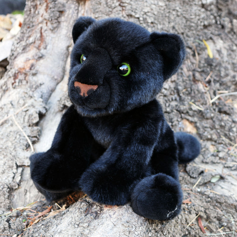 12 Inch Stuffed Black Panther Plush Floppy Animal Kingdom Collection