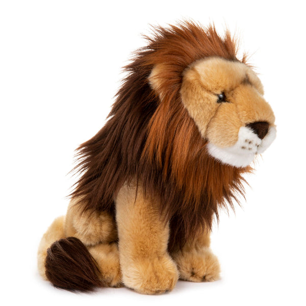 12 Inch Stuffed Lion Plush Animal Kingdom Collection