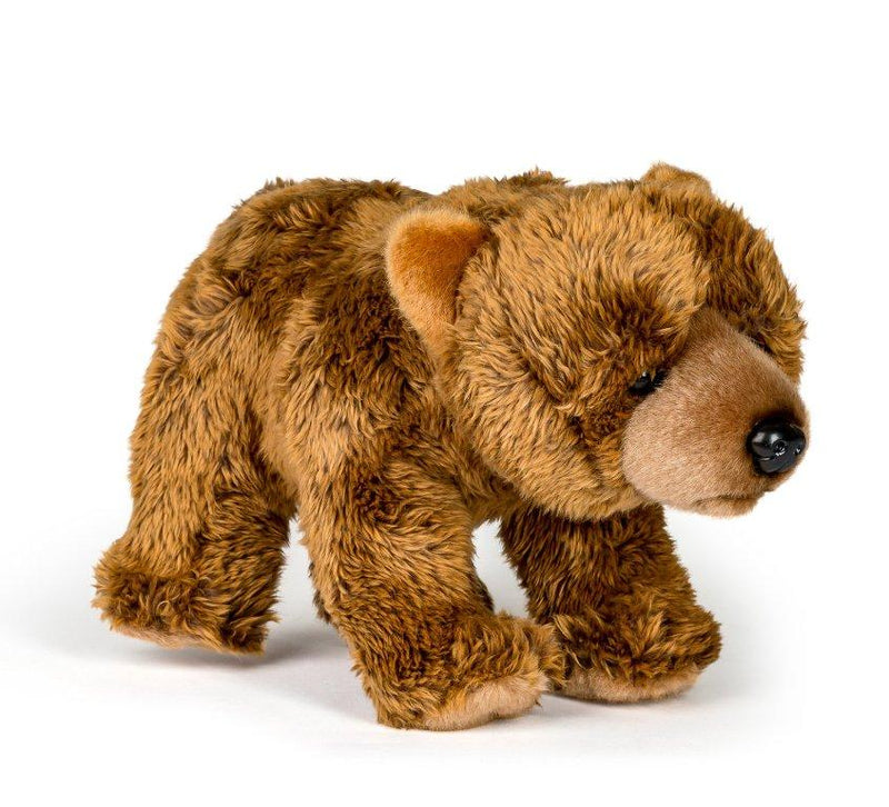 12 Inch Stuffed Grizzly Bear Plush Floppy Animal Kingdom Collection