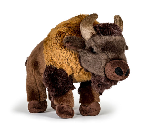 Wildlife Tree 12 Inch Stuffed Buffalo Plush Floppy Animal Kingdom Collection