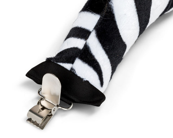 Clip for Plush Zebra Tail Clip-On Accessory for Zebra Costume