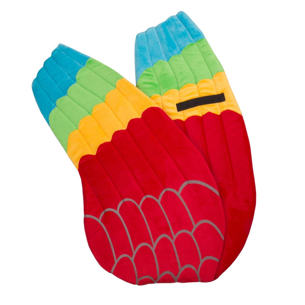 Plush Macaw Parrot Wings for Parrot Costume, Kids Cosplay and Pretend Play