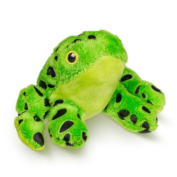 Single Green Dart Frog Mini 4 Inch Small Stuffed Zoo Animal Toy, Jungle Safari Party Favor for Kids