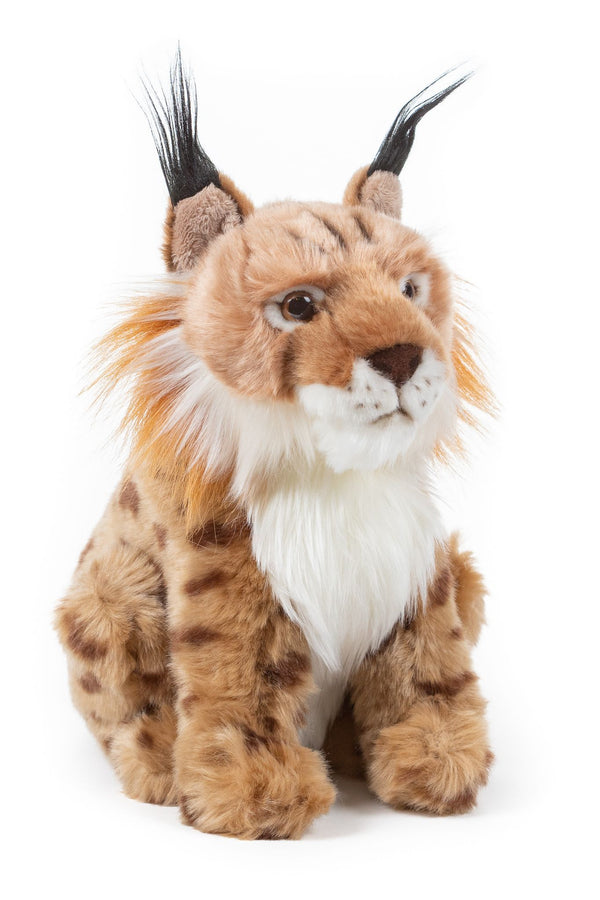 9 Inch Stuffed Lynx Bobcat Plush Animal Kingdom Collection