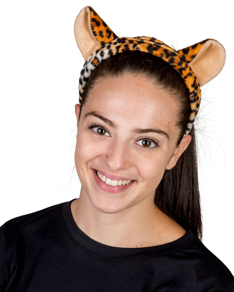 Cheetah Ears for Cheetah Costume Cosplay Safari Animal Pretend Play