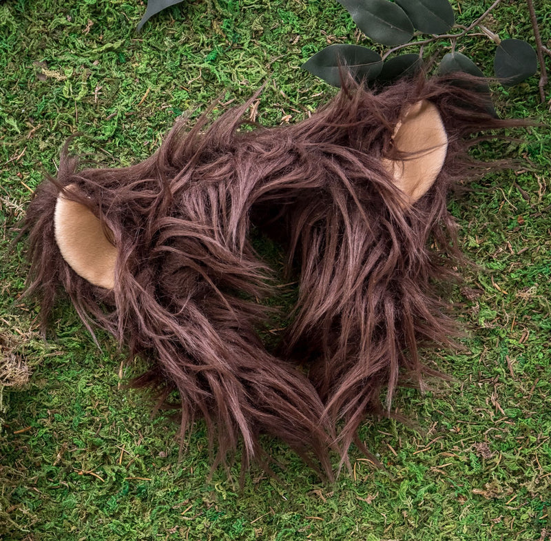 Grizzly Bear Ears for Brown Bear Costume Cosplay Animal Pretend Play
