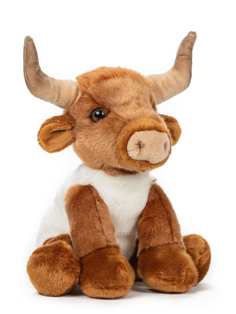 10 Inch Longhorn Bull Stuffed Animal Floppy Cow Plush