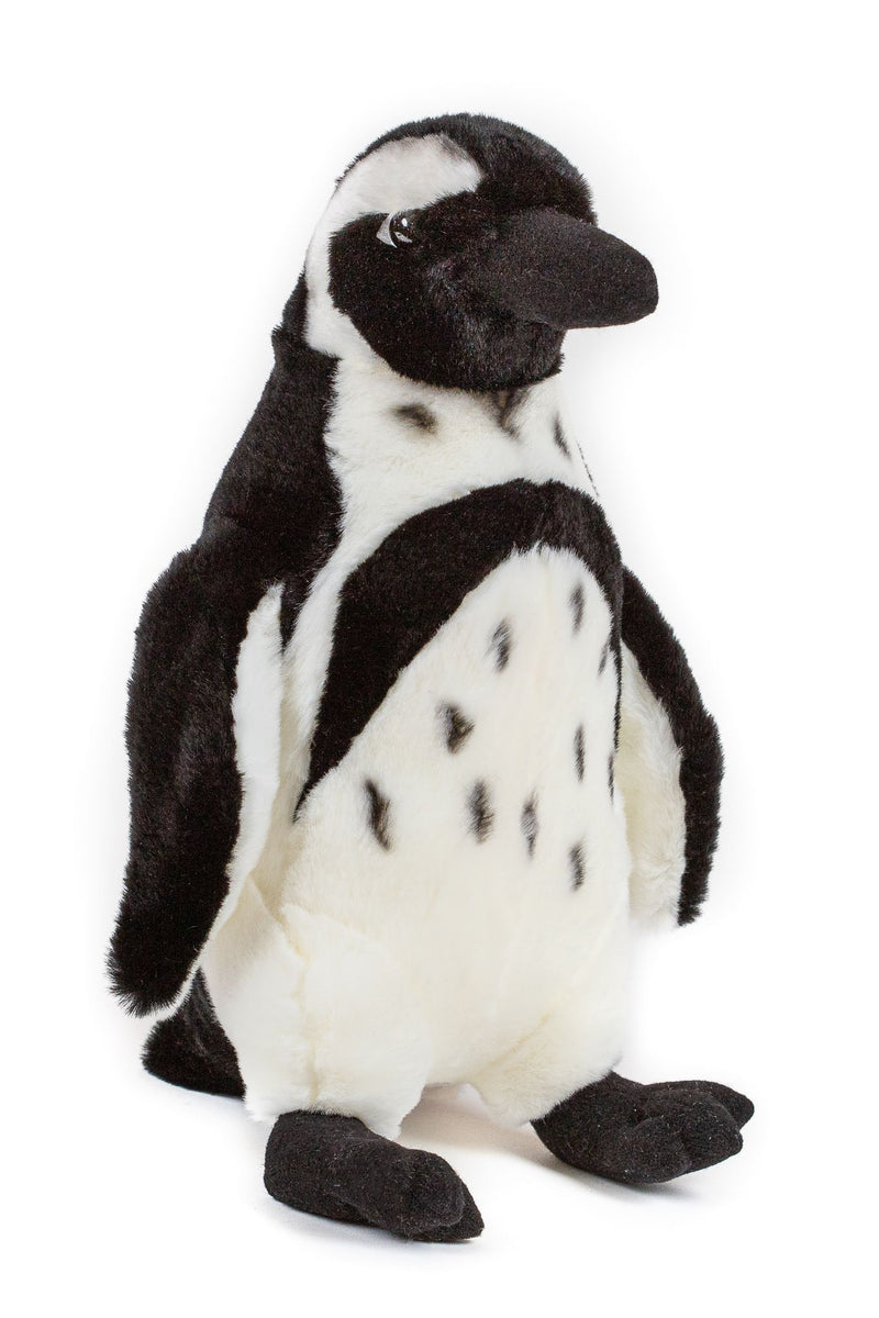12 Inch Stuffed Black-footed Penguin Plush Floppy Animal Kingdom Collection